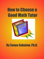 Cover for 'How To Choose A Good Math Tutor'