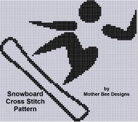 Cover for 'Snowboard Cross Stitch Pattern'