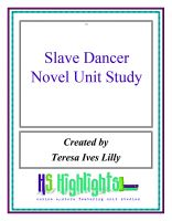 Cover for 'Slave Dancer Novel Unit Study'
