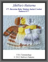 Cover for '177- Bavarian Baby Matinee Jacket Crochet Patterns #177'