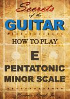 Cover for 'How to play the E pentatonic minor scale  - Secrets of the Guitar'