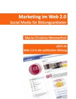 Cover for 'Marketing im Web 2.0: Social Media für Bildungsanbieter'