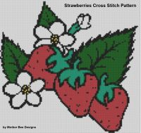 Cover for 'Strawberries Cross Stitch Pattern'