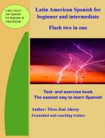 Cover for 'Latin American Spanish for Beginner and Intermediate, Flash Two In One'
