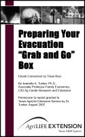 "Cover for 'Preparing Your Evacuation ""Grab and Go"" Box'"