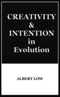 Cover for 'Creativity and Intention in Evolution'