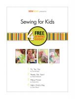 Cover for 'Sewing for Kids: 4 Sewing Guides'