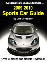 Cover for 'Automotive Intelligentsia 2009-2010 Sports Car Guide'