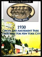 Cover for '1930 Circus And Amusement Park Directory For New York City'