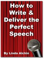 Cover for 'How to Write and Deliver the Perfect Speech'