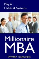 Cover for 'Millionaire MBA Day 6: Habits & Systems'