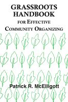 Cover for 'Grassroots Handbook for Effective Community Organizing'