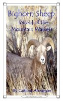 Cover for 'Bighorn Sheep: World of the Mountain Walkers'
