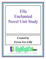Cover for 'Ella Enchanted Novel Unit Study'
