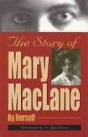 Cover for 'The Story of Mary MacLane'