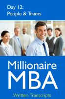 Cover for 'Millionaire MBA Day 12: People & Teams'