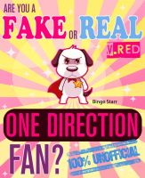 Cover for 'Are You a Fake or Real One Direction Fan? Red Version - The 100% Unofficial Quiz and Facts Trivia Travel Set Game'
