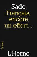 Cover for 'Français, encore un effort...'