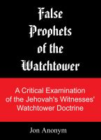 Cover for 'False Prophets of the Watchtower'