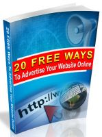 Cover for '20 Free Ways to Advertise Your Website Online'