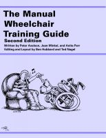 Cover for 'The Manual Wheelchair Training Guide'