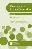 Cover for 'How to Start a Private Foundation'